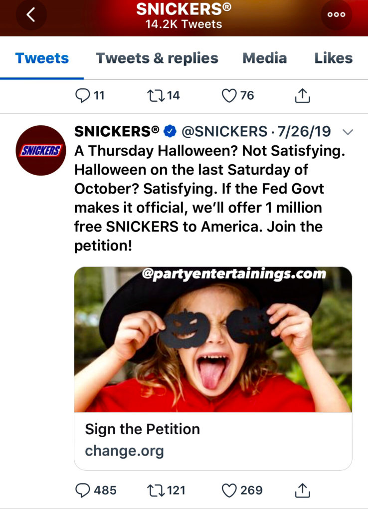 snickers candy giveaway