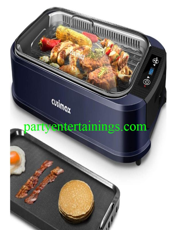 smokeless cooking grill